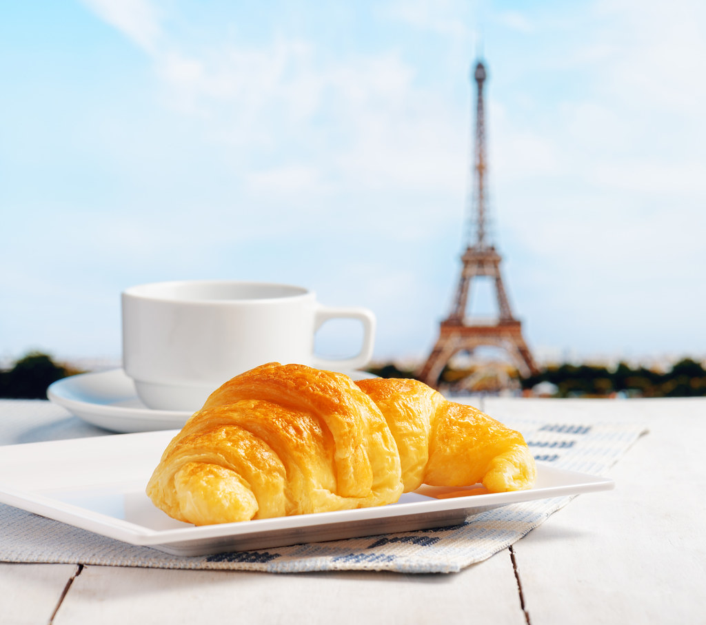 Paris Croissant and Coffee